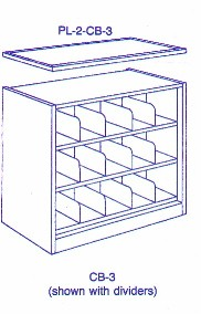 CB-3 steel compact shelving bookcase