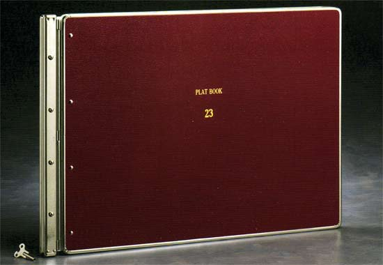 plat binder for archival map storage